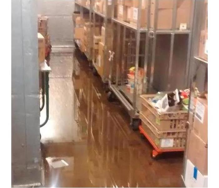 Flooded Area of a Grocery Store